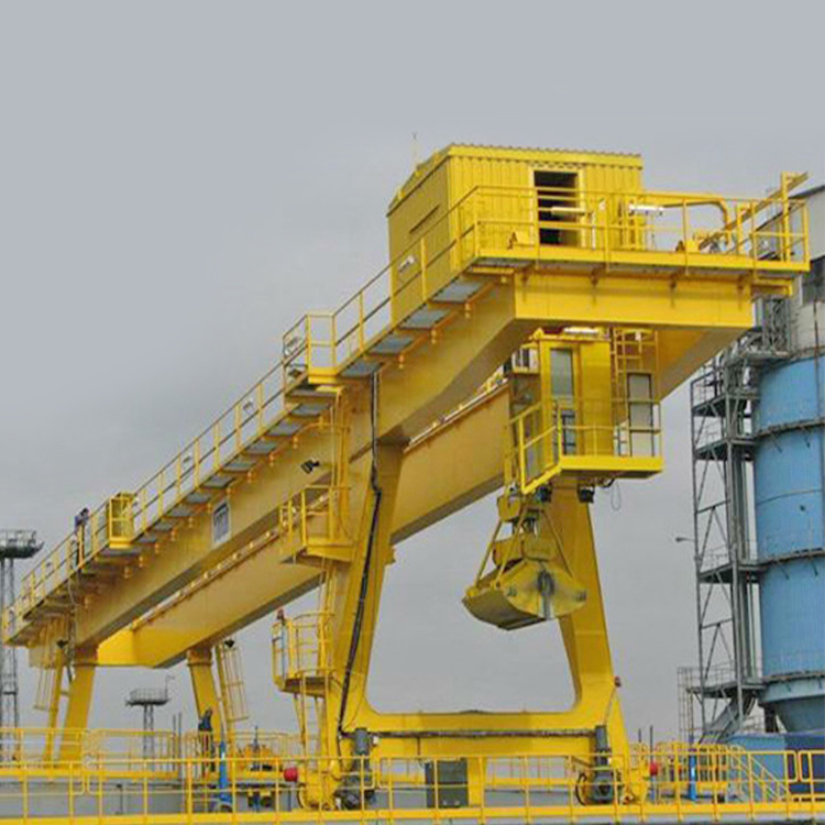 grab bucket double girder gantry crane