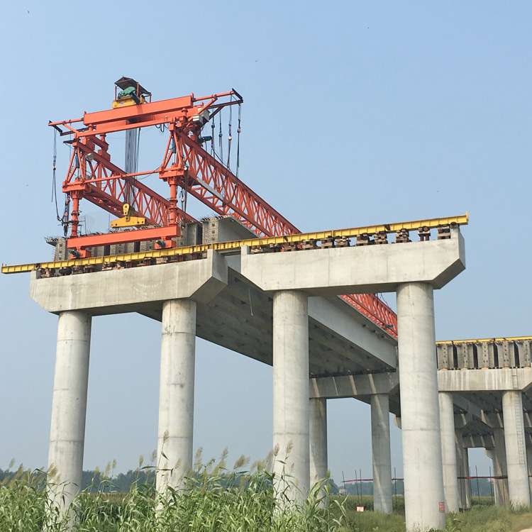 Bridge building crane